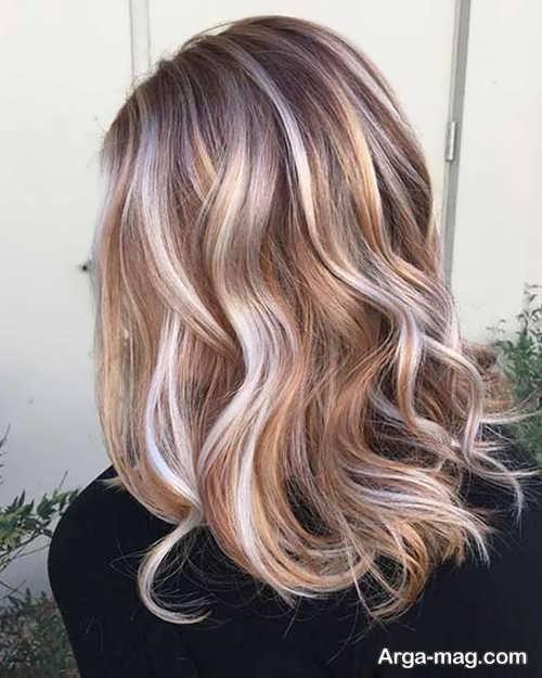 رنگ موی سال 2019 با هایلایت