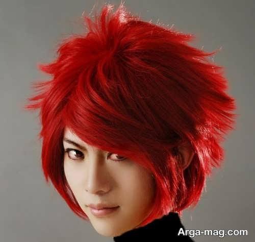 رنگ موی قرمز آتشی