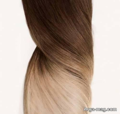 رنگ مو آمبره طلایی