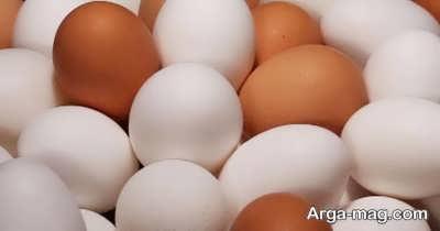 پر پشت کردن موی سر با تخم مرغ