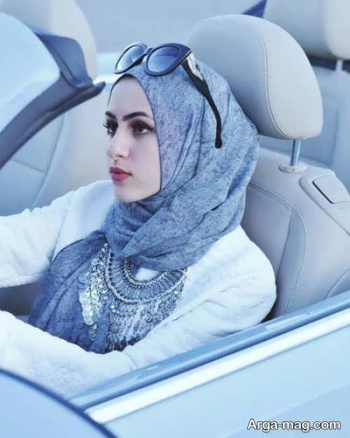 روش بستن شال عربی مجلسی