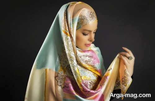 مدلی از نحوه بستن شال عربی