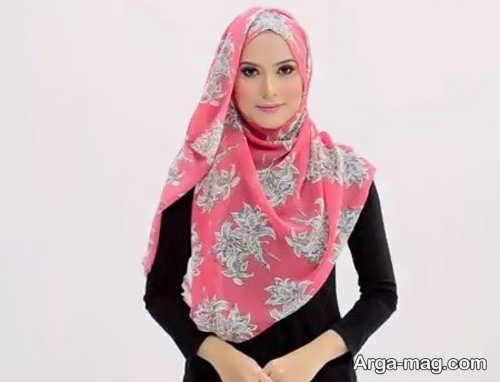 روش بستن شال عربی گلدار