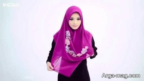 نحوه بستن شال عربی دخترانه