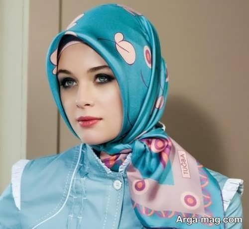 نحوه بستن شال عربی زیبا