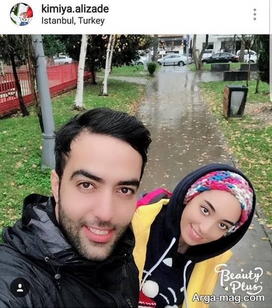 عکس متفاوت کیمیا علیزاده و همسرش