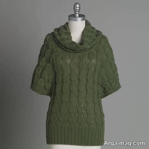 مدل لباس بافتنی طرح دار