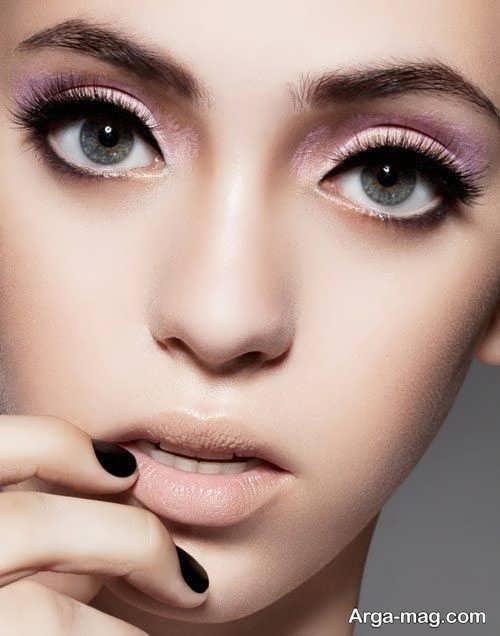 مدل آرایش برای چشم های گرد