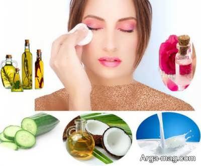 پاک کردن آرایش با روش های طبیعی و خانگی