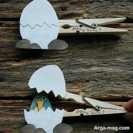 کاردستی با گیره چوبی