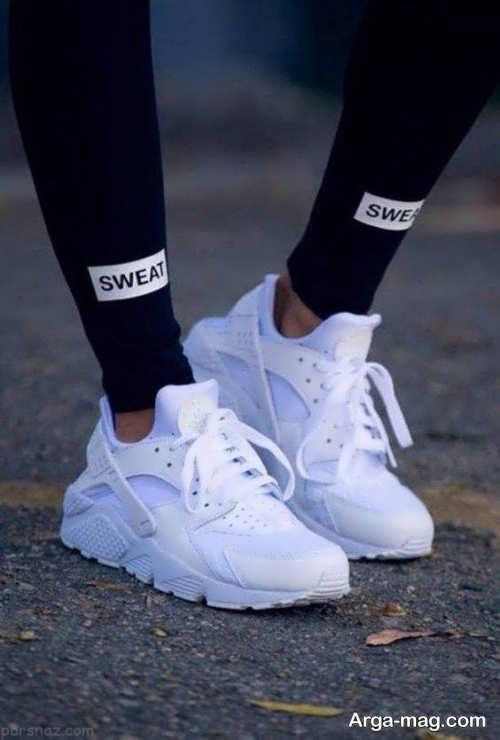 مدل کفش سفید کتانی