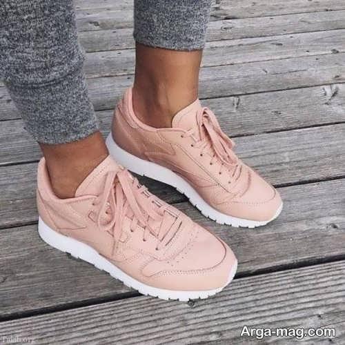 مدل کفش کتانی بند دار