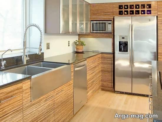 چیدمان شیک آشپزخانه مدرن