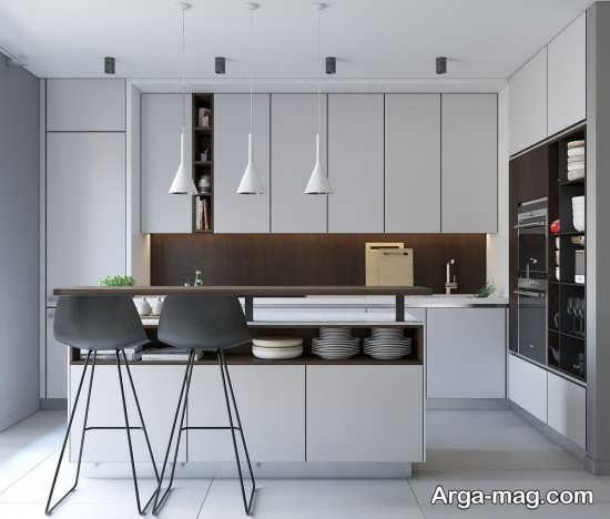 دیزاین زیبای آشپزخانه مدرن