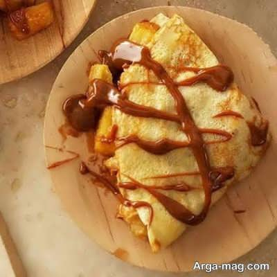 طرز تهیه کرپ موز و آناناس