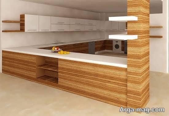 دکوراسیون آشپزخانه مدل ام دی اف