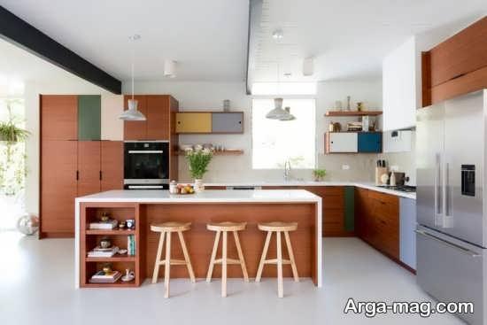 اپن مدرن آشپزخانه ام دی اف