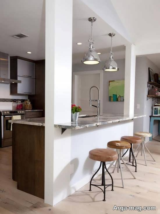 طراحی شیک آشپزخانه اپن ام دی اف