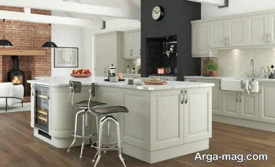 دیزاین شیک آشپزخانه مدل ام دی اف