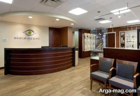 دکوراسیونو دیزاین مطب چشم پزشکی