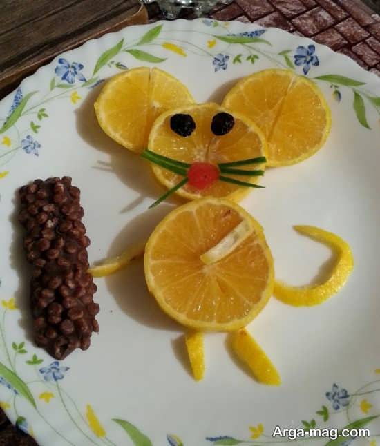 تزیین میوه پرتقال برای شب یلدا