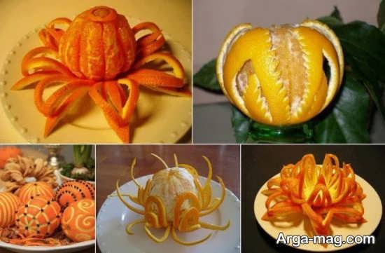 ایده های هنرمندانه برای تزیین پرتقال