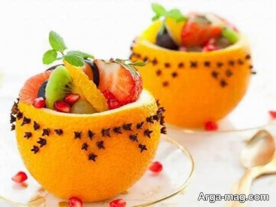 مدل های جذاب تزیین پرتقال برای شب یلدا