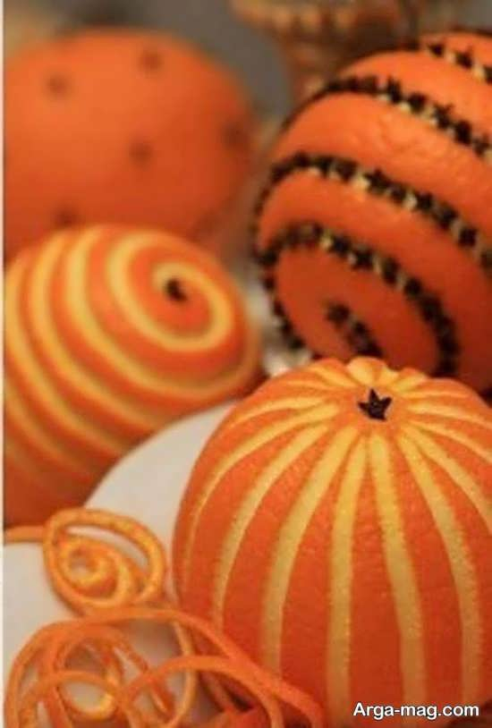 تزیینات خلاقانه پرتقال شب یلدا
