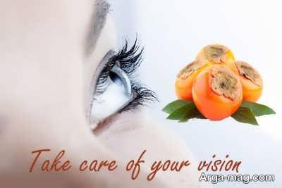سلامت چشم با خواص خرمالو