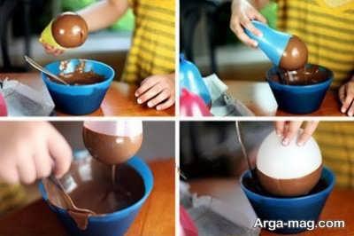 تهیه کاسه شکلاتی