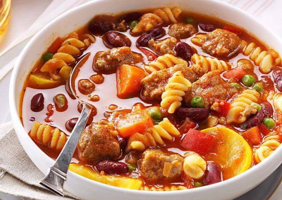 طرز تهیه سوپ ماکارونی