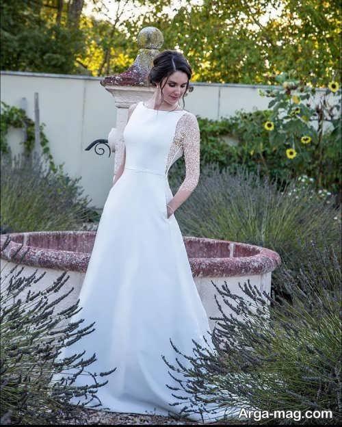 ژست عکس عروس در باغ
