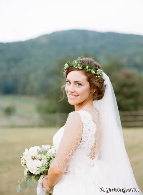 ژست عکس عروس در فضای باز