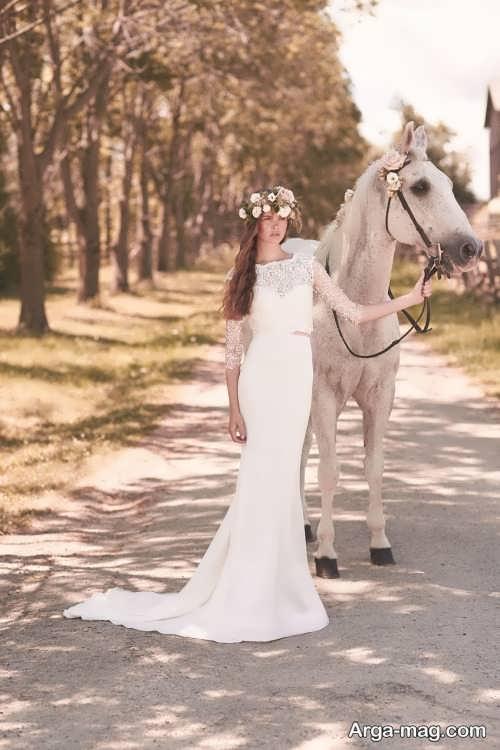 ژست عکس عروس با اسب