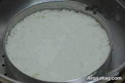 طرز تهیه کیک برنجی