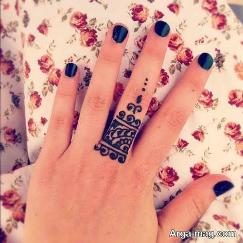 طرح زیبا حنا روی دست