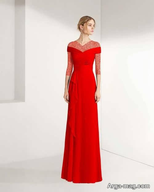 مدل لباس شب قرمز