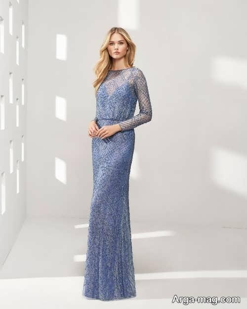 مدل لباس شب زیبا و بلند