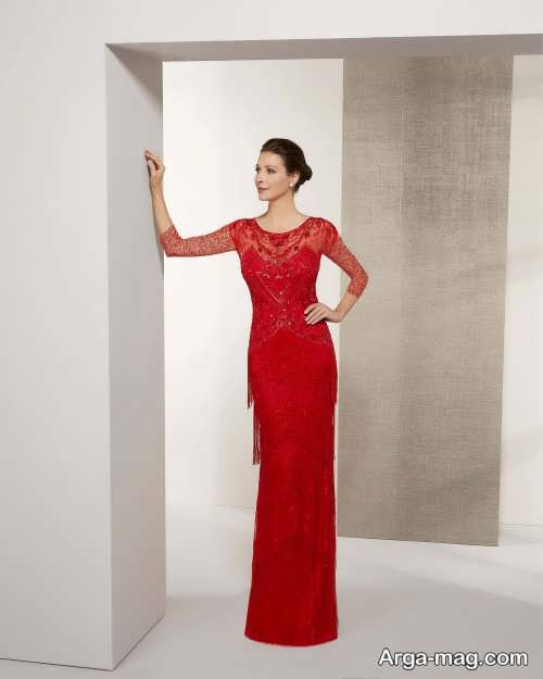 مدل لباس شب ترکیه ای شیک و قرمز