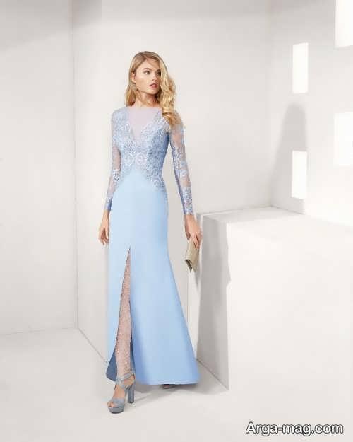 مدل لباس شب ترکیه ای آبی