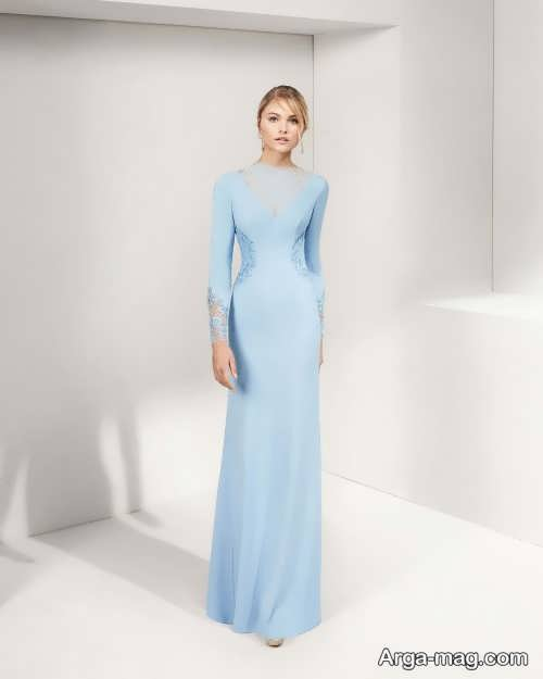 مدل لباس شب آبی