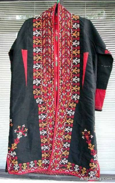 مدل لباس ترکمنی طرح دار