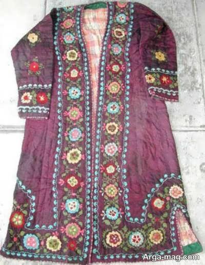 مدل لباس طرح دار ترکمنی