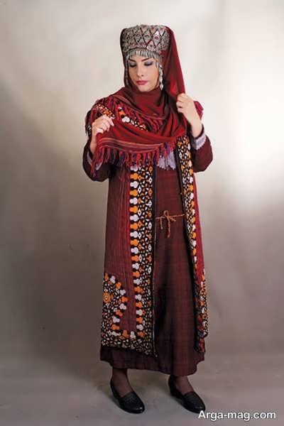 لباس طرح دار ترکمنی