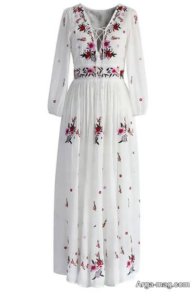لباس ابریشم ترکمنی