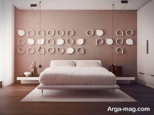 تزیین ساده و زیبا دیوار اتاق خواب