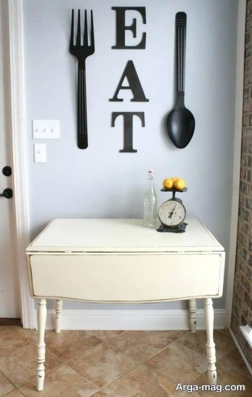 تزیین شیک و فانتزی دیوار آشپزخانه