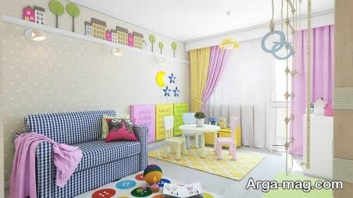 تزیین کردن دیوار اتاق کودک