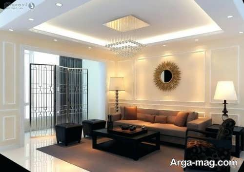 تزیین ساده و زیبا دیوار پذیرایی