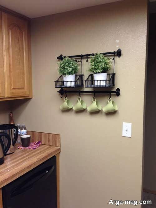 تزیین شیک و جذاب دیوار آشپزخانه